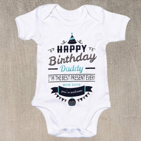 Happy Birthday Dad Daddy Birthday Gift Happy Birthday Daddy Baby Bodysuit